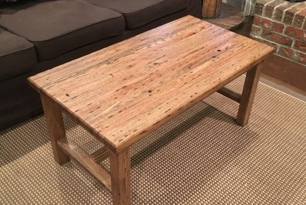 pallet coffee table - ranch oak 1