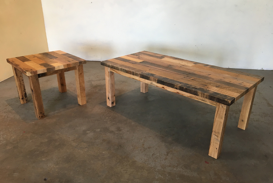 all wood - coffee and end table 1