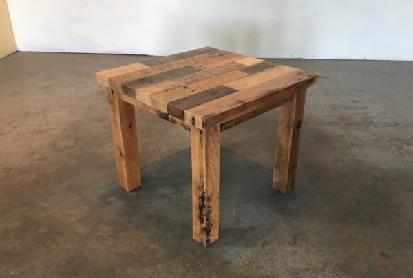 all wood - end table 1