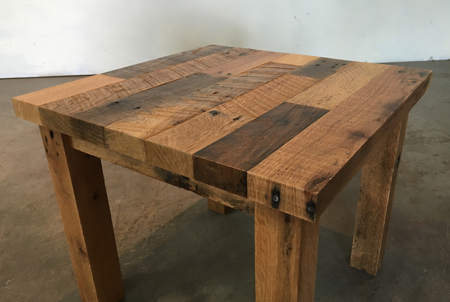 all wood - end table 2
