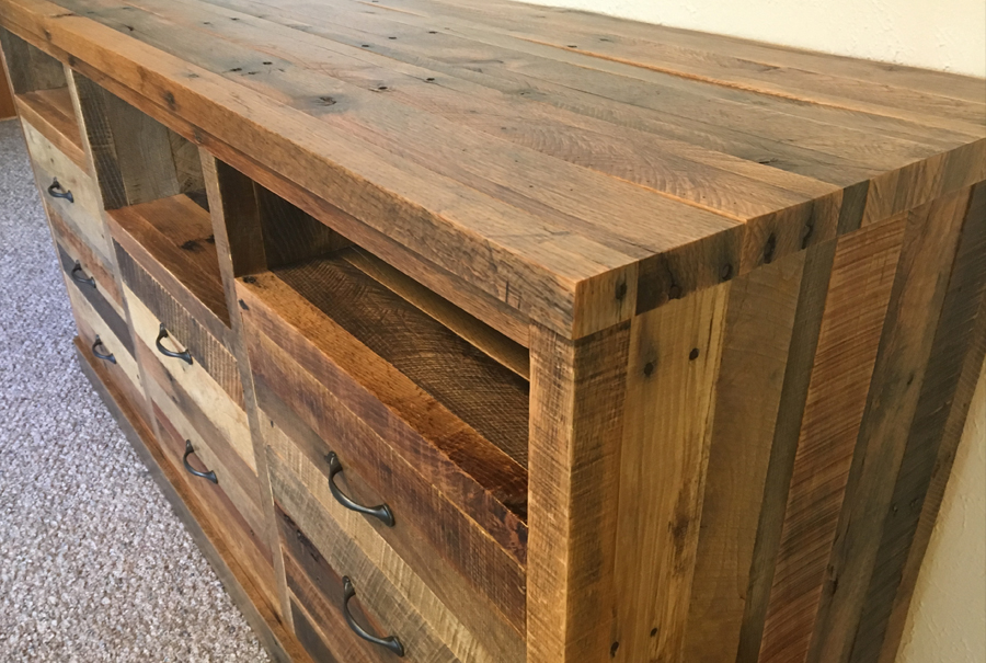 gallery - pallet entertainment center 8